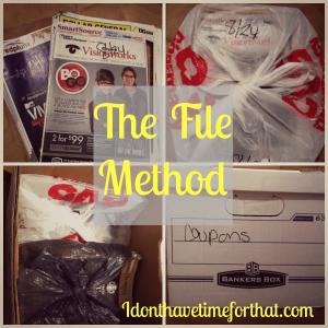 coupon organizing file method