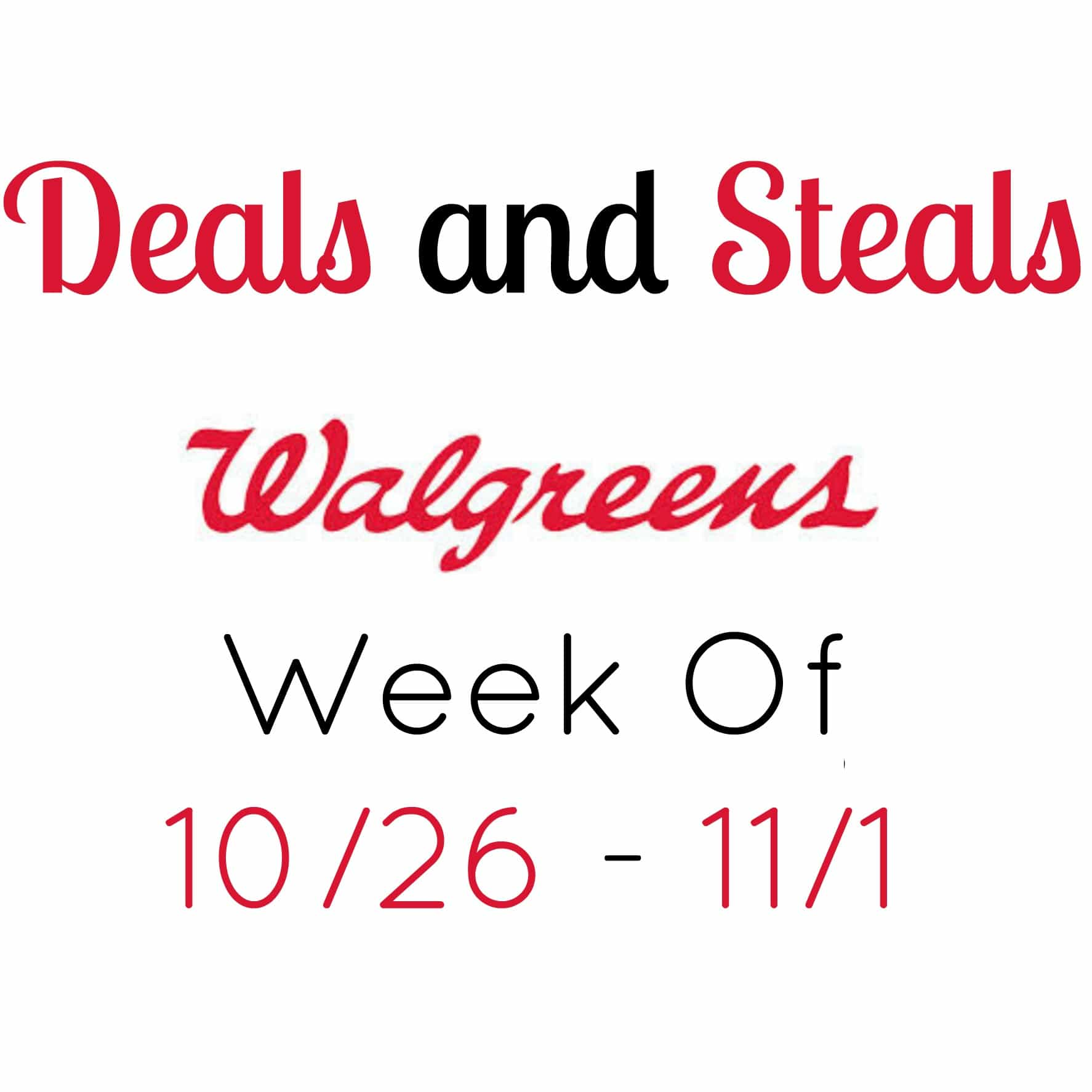 walgreans coupon deals