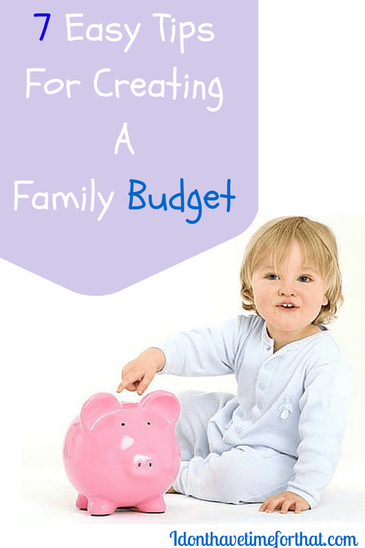 create your family budget