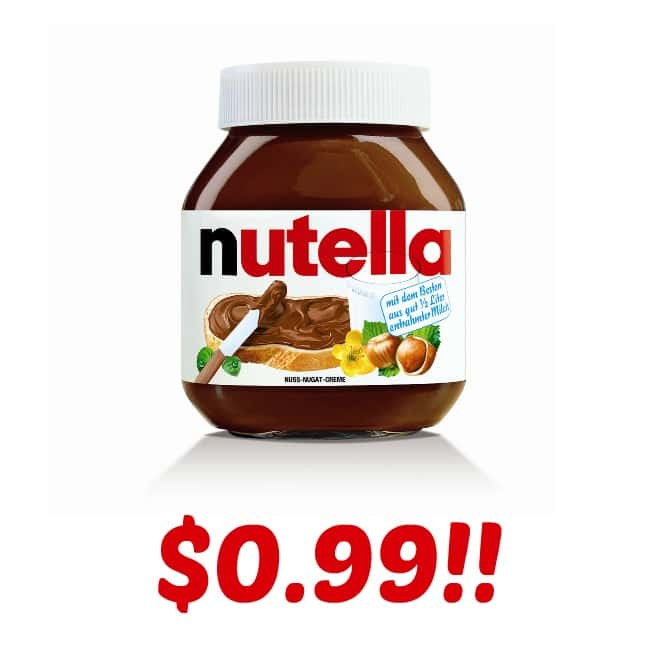 picture regarding Nutella Printable Coupon identified as Nutella Hazelnut Unfold $0.99 At Concentration! - I Dont Contain Season