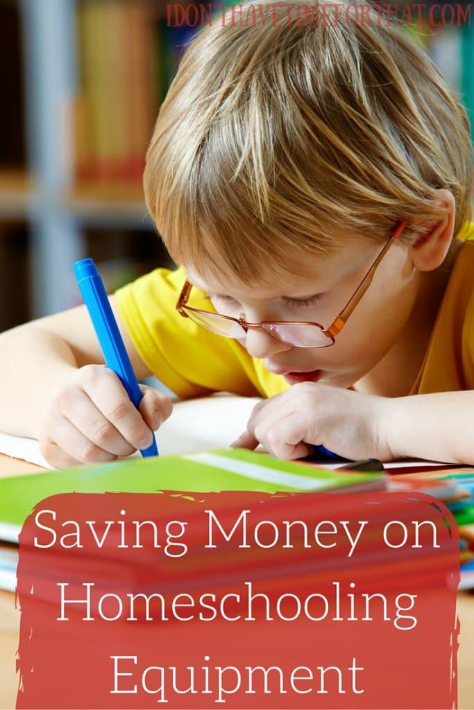 Saving Money on Homeschooling Equipment