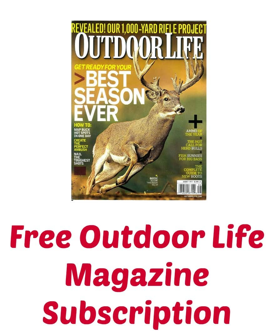 FREE OUTDOOR LIFE MAGAZINE SUBSCRIPTION
