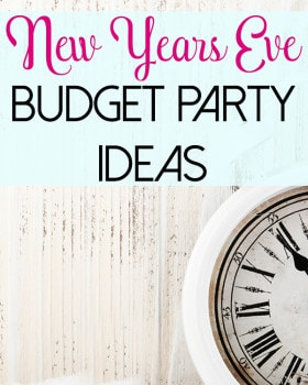 New Year's Eve Budget Party Ideas