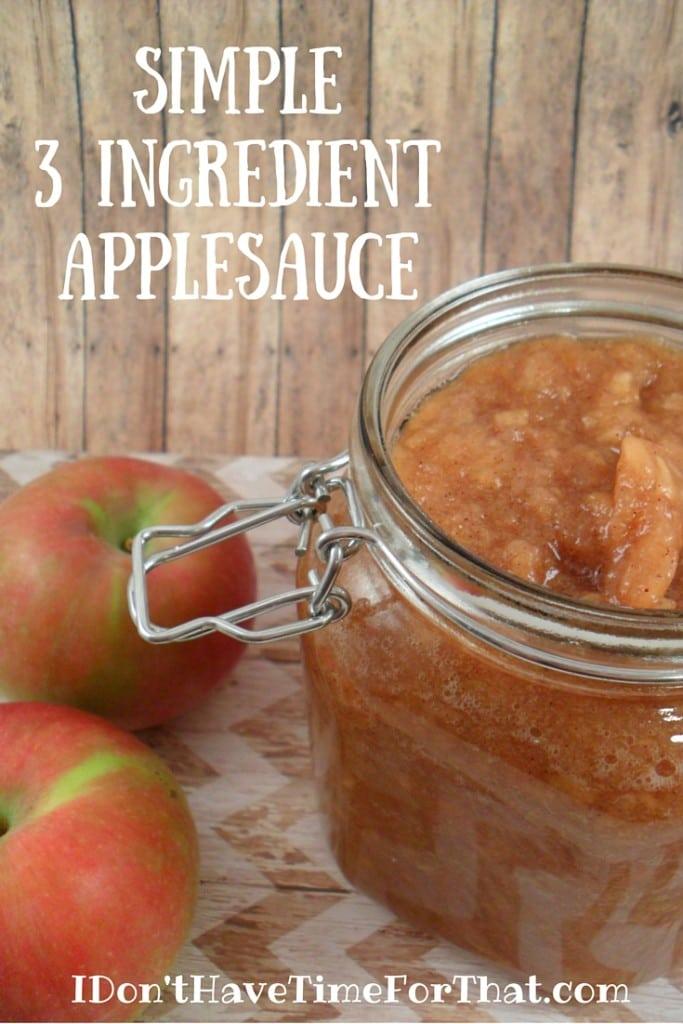 Simple 3 Ingredient Apple Sauce