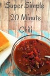 Super Simple 20 Minute Chili