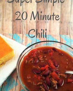 Super Simple 20 Minute Chili