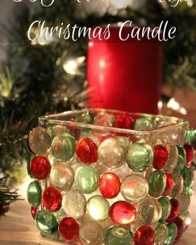 Rainbow Rays Christmas Candle