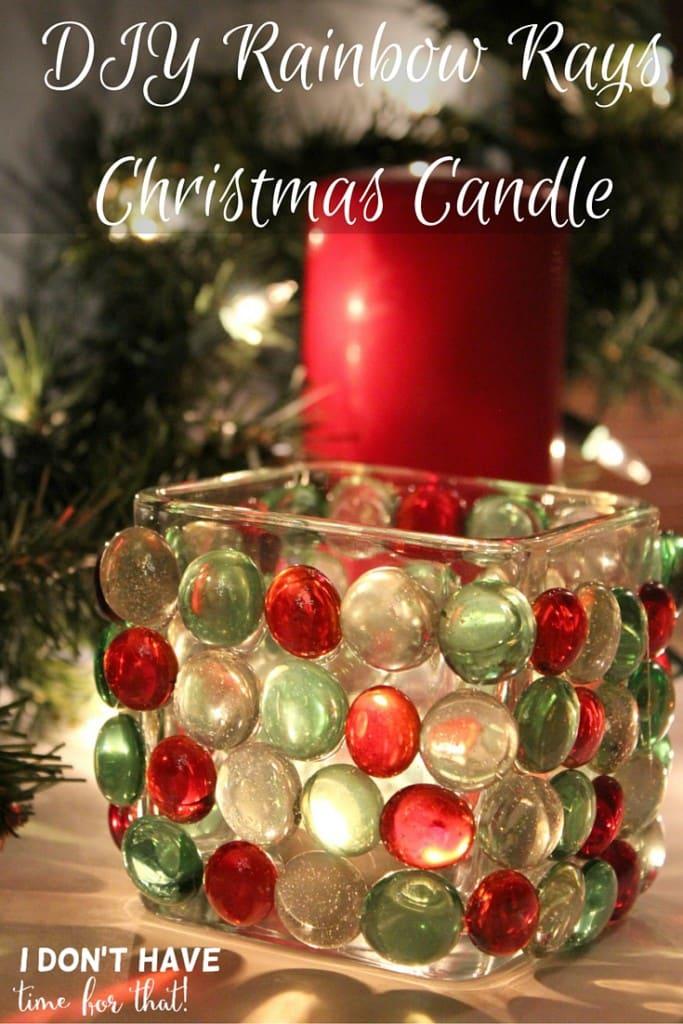 Rainbow Rays Christmas Candle (1)