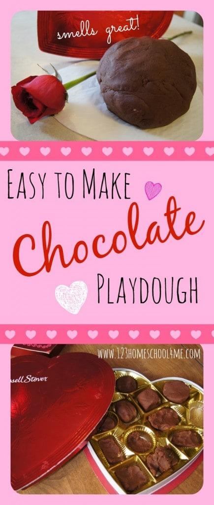 chocolate playdough
