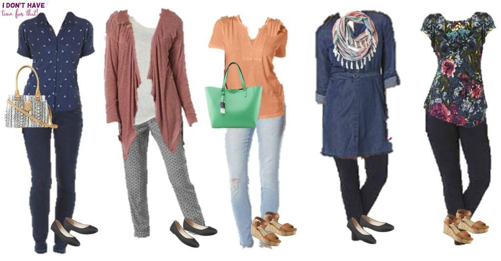 Mix and match wardrobe