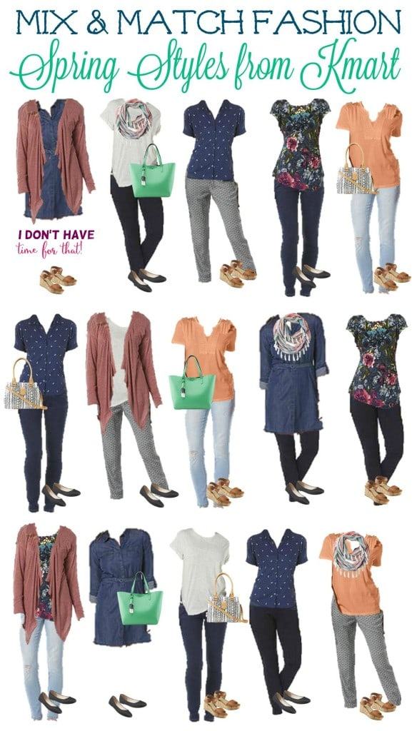3.10 Mix and Match Fashion Board - Spring Kmart Styles VERTICAL