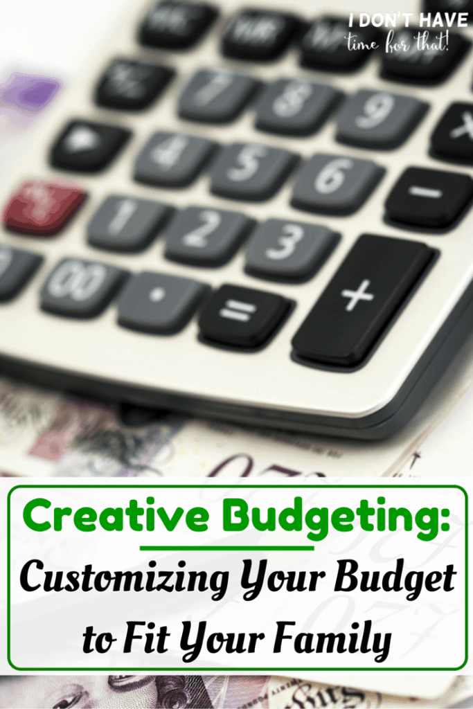 Customize Your Budget to Fit Your Family