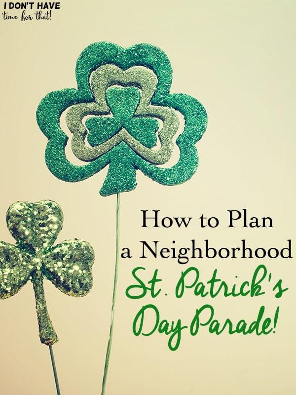 Neighborhood St. Patrick's Day Parade