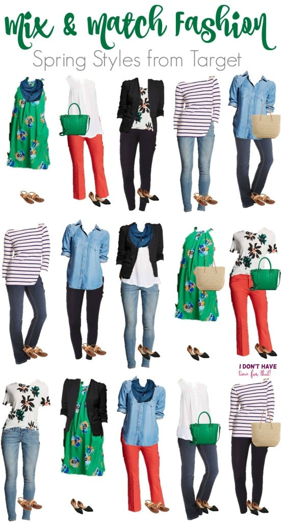 Mix and match wardrobe - Spring Styles from Target VERTICAL