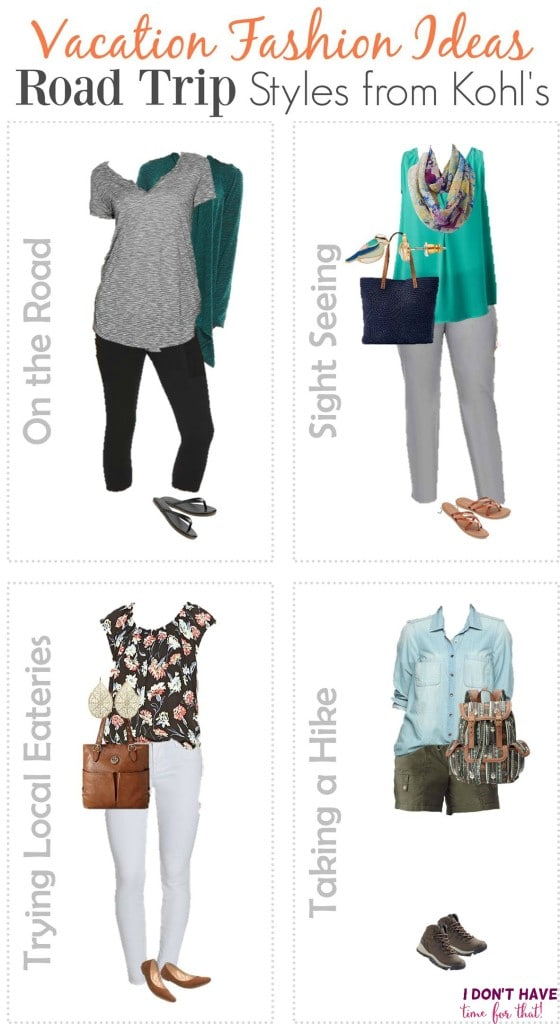 Vacation Fashion - Road Trip Styles from Kohl's VERTICAL