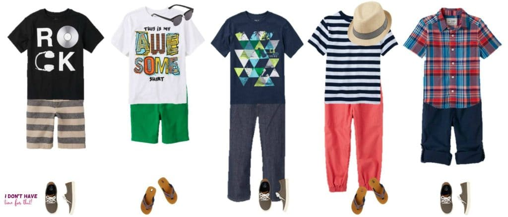 Mix and Match - BOYS Summer Styles from TCP 1-5
