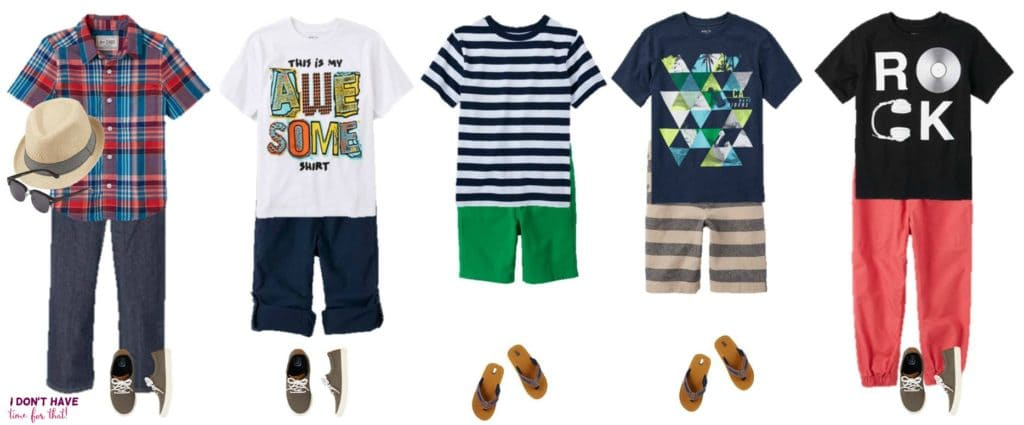 Mix and Match - BOYS Summer Styles from TCP 11-15