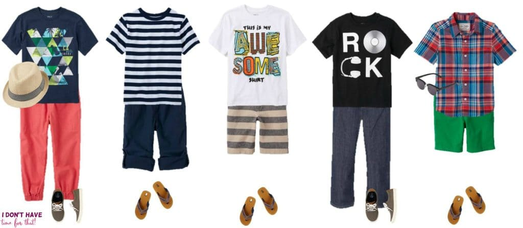 Mix and Match - BOYS Summer Styles from TCP 6-10
