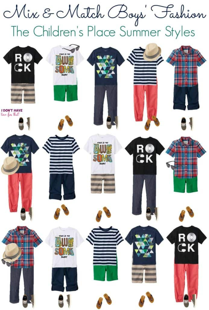 Mix and Match - BOYS Summer Styles from TCP VERTICAL