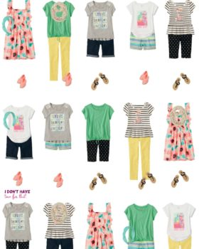 Summer Mix & Match Budget Wardrobe For Girls From The Children's Place!