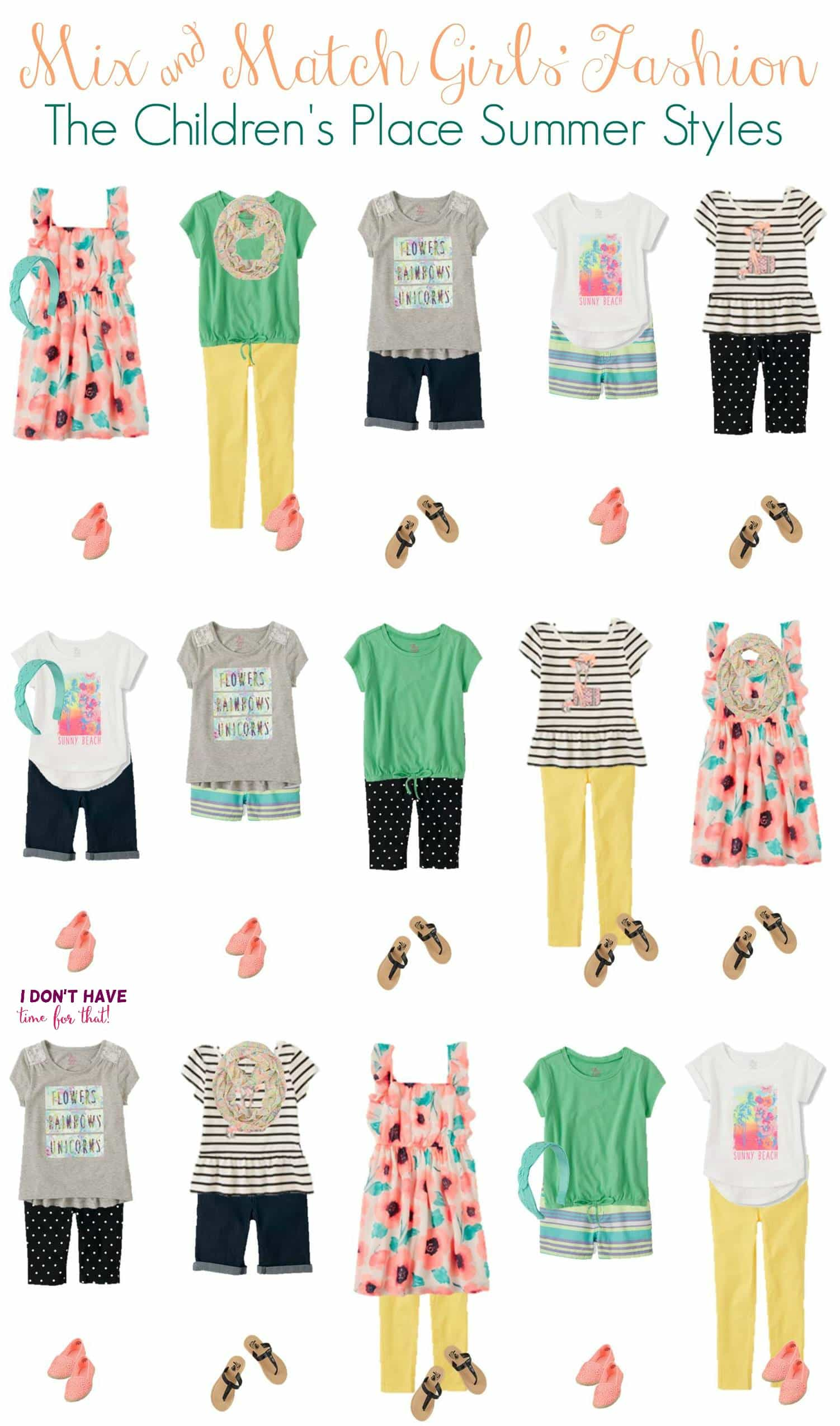 The Childrens Place Girls Baby and Toddler Mix and Match Print Off Shoulder Top