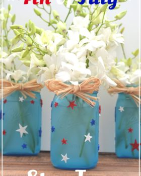 Quick & Easy DIY 4th of July Star Jars