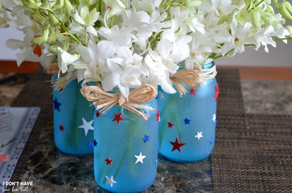 Quick Easy Diy 4th Of July Star Jars I Don T Have Time For That