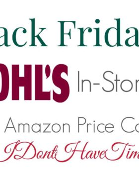 Black Friday: Kohl's In-Store Sales with Amazon Comparisons
