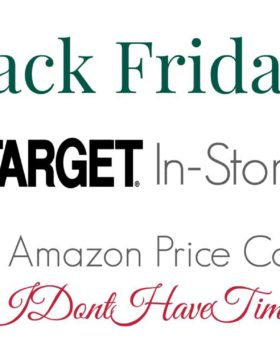 Black Friday: Target In-Store Sales with Amazon Comparisons