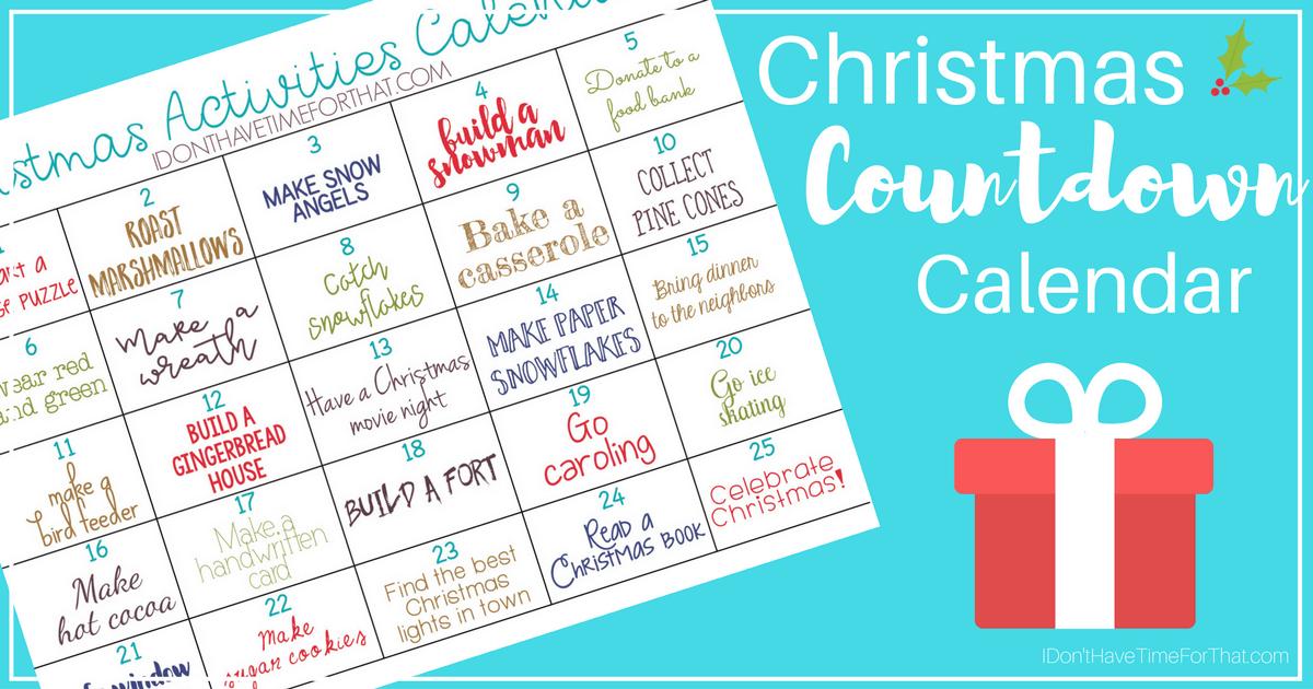 Christmas Calendar Ideas Year : Christmas activities countdown calendar i don t have