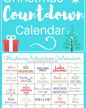 Christmas Activities Countdown Calendar!