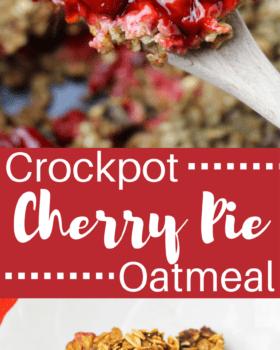 Crockpot Cherry Pie Oatmeal