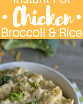 Instant Pot Chicken Broccoli and Rice