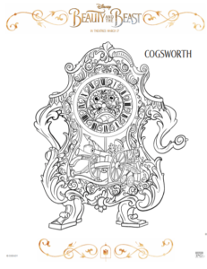 Beauty and the Beast Free Printable Coloring Sheets